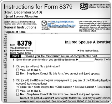How to Claim Injured Spouse Relief from the IRS: Form 8379
