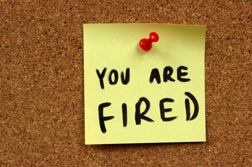 Job dismissal notice