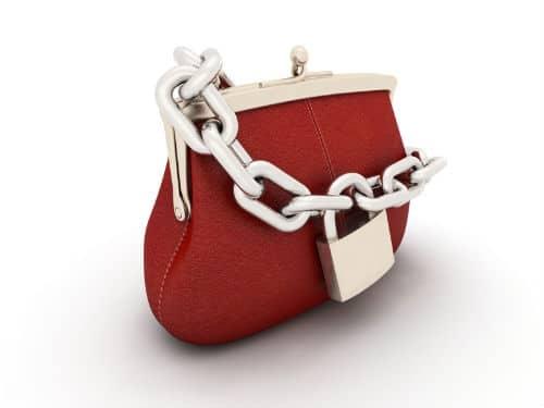 Closed purse