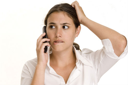 woman confused by call from debt collector