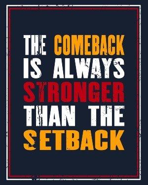 Do You Know Someone Facing a Setback?